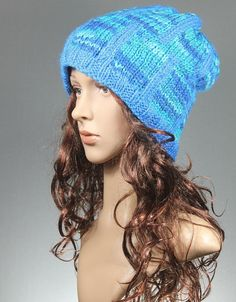 Knit Slouchy Hat - Window of Ocean
