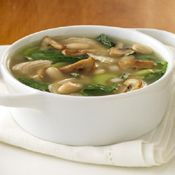 Turkey Mushroom Soup, yummy, made from leftover Thanksgiving turkey and stock