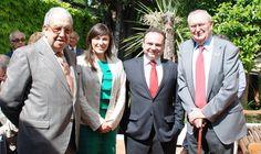 De izquierda a derecha: D. Mariano Hernanz de las Heras, Presidente de APACOR; Dña. Vanessa Couto, Subdirectora del Instituto Europeo de Salud y Bienestar Social; D. Fco. Javier Castalleda, Director General de NATURLIDER; D. Jose Luis Jiménez, Vicepresidente de APACOR.