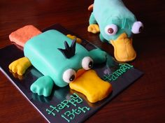 Perry the Platypus By Stephanie1555 on CakeCentral.com