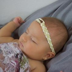 Clever Gold and Beige Headband - Headbands - AllBabyGirls - 1