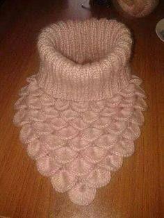 Embroidered Baby Vest Making - Bebek Örgüleri - Crochet Scarves, Crochet Shawl, Crochet Stitches, Crochet Baby, Knit Crochet, Easy Knitting Patterns, Crochet Patterns, Crochet Neck Warmer, Crocodile Stitch