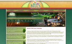 Web design for a landscape design in New Jersey.