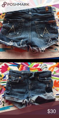 7 for all mankind Childrens girl cutoffs size 6 7 for all mankind. Little girls size 6 cutoff shorts. So sad my daughter is growing. These are some of my favs. 7 For All Mankind Bottoms Shorts