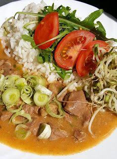 Vaříme bez tuku: Krůtí perkelt Thai Red Curry, Fit, Ethnic Recipes, Shape