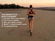 North of Here Blog: Benefits of beach running #beachrunning #fitness