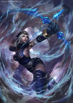 Ashe by CGlas  gathered by http://how2win.pl