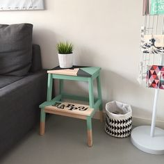 Bekvam stool is one of the top popular kids' units from IKEA, and this is not surprising because it's design is very functional and comfy in using . Bekvam Stool, Ikea Bekvam, Ikea Furniture, Upcycled Furniture, Painted Furniture, Diy Home Decor, Room Decor, House Plants Decor, Baby Room Design