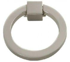 Hickory Hardware Camarilla Ring Pull SatNickel 2 Inch X 2-1/16 Inch P3190-SN - Retro Drawer Pulls at Knobdeco