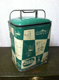 Vintage Metal Cooler Ice Chest - Vintage Magikooler Leisure Chest - Vintage Picnic Basket on Etsy, $50.00