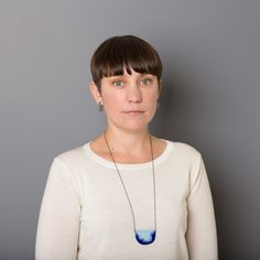 'Enfold' necklace & earrings Cobalt & Light Blue - oxidised chain vitreous enamel, copper & sterling Silver Image by Hilary Walker Square Earrings, Round Earrings, Vitreous Enamel, Turquoise Necklace, Copper, Victoria, Pendant Necklace, Jewellery, Chain