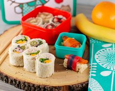 I made some sandwich sushi, which is a great addition to a healthy lunch. There are so many variations you can make on the sandwich sushi.