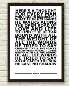 Oasis - Cast No Shadow Lyrics