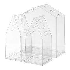 IKEA - VINDRUVA, Greenhouse, set of 3, VINDRUVA can be used as a mini greenhouse, or complemented with ribbon and used as a gift box.