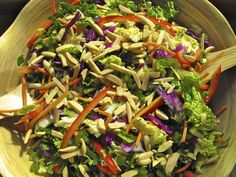 Asian slaw recipe from Cooper's Hawk. Just made tonight, so good and highly addictive! Added a tsp more sugar.