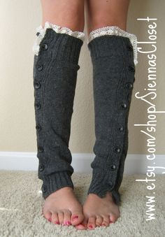 legwarmers with lace