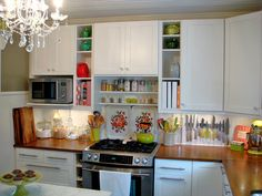 Ikea butcher block countertops from -The Sweet Pea Café by Photography by Jen, via Flickr