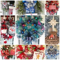 Christmas Wreaths For Front Door, Winter Wreaths, Christmas Mantels, Door Wreaths, Christmas Gifts, Welcome Wreath, Love Sewing, How To Make Wreaths, Etsy Seller