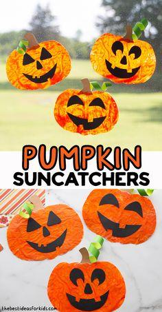 Easy Crafts For Kids, Toddler Crafts, Pumpkin Template, Simple Girl, Melting Crayons, Suncatchers, Fall Crafts, Homeschool, Halloween