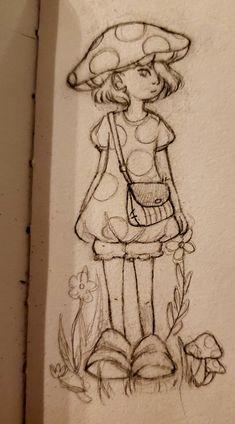 Arte Grunge, Grunge Art, Indie Drawings, Art Drawings Sketches Simple, Fairy Drawings, Pencil Art Drawings, Arte Indie, Indie Art, Art Inspiration Drawing
