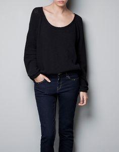 BOAT NECK SWEATER - Knitwear - TRF - ZARA