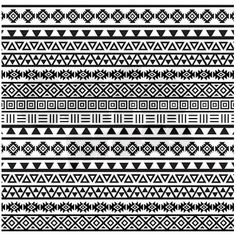 Aztec Influence B/w Shower Curtain by Rethnic - CafePress Tribal Patterns, Doodle Patterns, Zentangle Patterns, Mandala Pattern, Mandala Design, Pattern Art, Mandala Art Lesson, Mandala Drawing, Arm Band Tattoo For Women