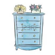 armoire dessin poitrine sketched des tiroirs mod le de. Black Bedroom Furniture Sets. Home Design Ideas
