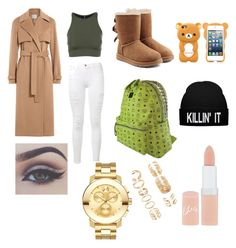 """""""NoTitel"""" by michelle-jovanovic ❤ liked on Polyvore featuring Jason Wu, Frame Denim, Onzie, UGG Australia, MCM, Rimmel, Forever 21 and Movado"""