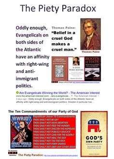 """""""It is usually when men are at their most religious that they behave with the least sense and the greatest cruelty."""" ―Ilka Chase > """"The fruits of Christianity were religious wars, butcheries, crusades, inquisitions, extermination of the natives in America, and the introduction of African slaves in their place"""" -Arthur Schopenhauer > America is simultaneously the most professedly Christian of the developed nations and the least Christian in its behavior. http://www.marioninstitute.org/node/230"""