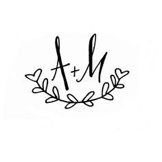 Wedding - Custom Initials Monogram. $35.00, via Etsy.