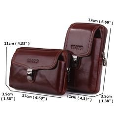 Brand Genuine Cow Leather Men's Waist Belt Pack Fanny Bag Cell Mobile Phone Wallet Punch Case Cover For Iphone X. Leather Cell Phone Cases, Cheap Crossbody Bags, Waist Pack, Cow Leather, Pouch, January 14, Phone Wallet, Mens Holdall Bag, Good Ideas