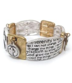 Serenity Prayer Stretch Bracelet
