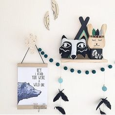 Hey i heard you were a wild one print boys room bear woodland nursery boys nursery tribal nursery studio bowerbird image: @home.styling.mumma http://studiobowerbird.bigcartel.com/product/wild-one