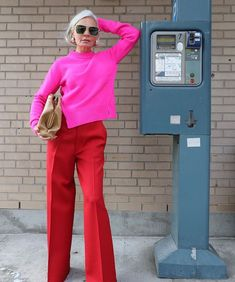 Back home but still have Copenhagen colours on my mind! Looks Style, Style Me, Blue Oxford Shirt, Pink Trousers, Red Leather Trousers, Look Fashion, Womens Fashion, Runway Fashion, Fashion Over 40