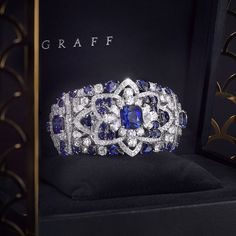 New from the workshop - This magnificent sapphire and diamond bracelet perfectly epitomises the skill and passion of Graff Diamonds' Master Craftsmen and Designers. #GraffDiamonds #Sapphires #HighJewellery