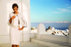 Cocktail et Soirée Linea-Raffaelli-chez-Olivier-Sinic Costume, Mademoiselle, Occasion Wear, Marie, Duster Coat, Cocktails, White Dress, Classy, Lingerie