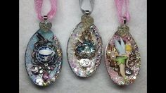 DIY~Gorgeous Sparkly Plastic Spoon Ornaments From Dollar Tree! Amazing! - YouTube