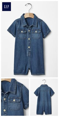 1969 denim shortie one-piece