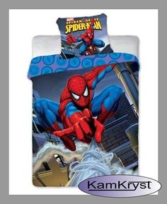 Spider-man boys bedding set | Pościel Spiderman 140x200 z siecią #ultimate_spiderman #kids_bedding #spider_man_beddingPościel SpiderMan 140x200cm