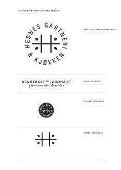 logo / Hesnes greenhouse & kitchen by Hilde Pedersen