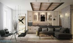 Картинки по запросу дизайн однокомнатной квартиры 40 кв м