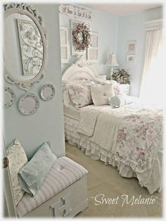 spare bedroom in the farmhouse dcor ideasbed ideasshabby chic - French Style Bedroom Decorating Ideas