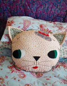 cat cushion prototype by madebyjenni, via Flickr