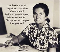 Simone Veil Best Quotes, Love Quotes, Inspirational Quotes, Quote Citation, French Quotes, Positive Attitude, Positive Affirmations, Beautiful Words, Some Words