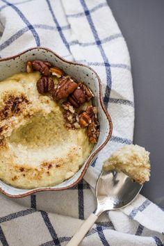 Millet porridge (like polenta or cream of wheat) Yogurt Breakfast, Savory Breakfast, Sweet Breakfast, Breakfast Time, Breakfast Recipes, How To Cook Millet, Millet Recipes, Gluten Free Breakfasts, Waffle Recipes