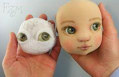 Etapas inicial y de término para rostro muñeca