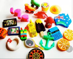 Mix-bag of rubbers/erasers. #80s #90s #childhoodmemories #nostalgia