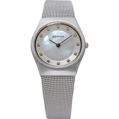 NEW-Bering-Time-Womens-Watch-Stainless-Steel-Mesh-band-Mother-of-pearl-11927-004