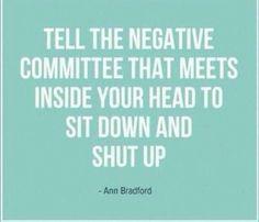 No more negativity!