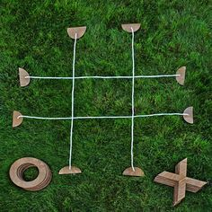 Add a bit of friendly competition to backyard barbecues with this outdoor tic-tac-toe set by Cornhole America. Made from birch wood and finished with a rich, protective stain, each set stands 9.5-inch